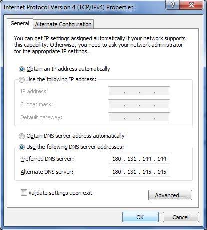 Cara Memasang DNS Nawala di Windows 7 dan Vista