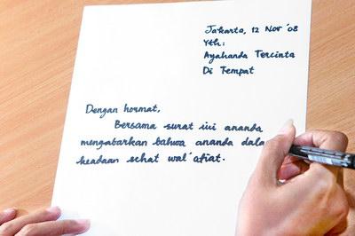 sifat dari tulisan tangan, penulis super