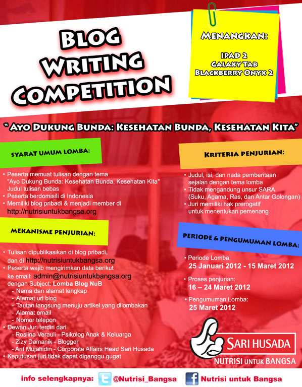 Blog Writing Competition, penulis super