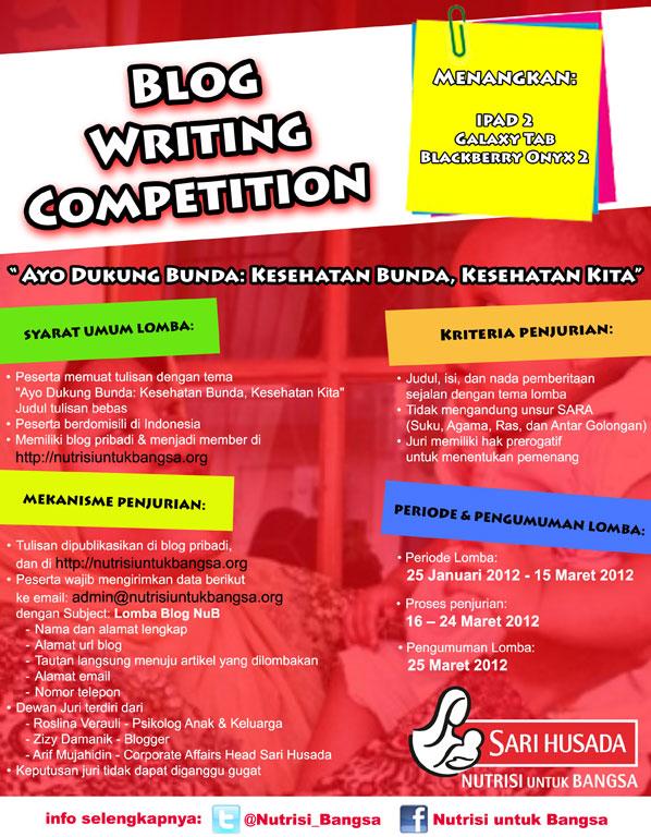 Blog Writing Competition, penulis super